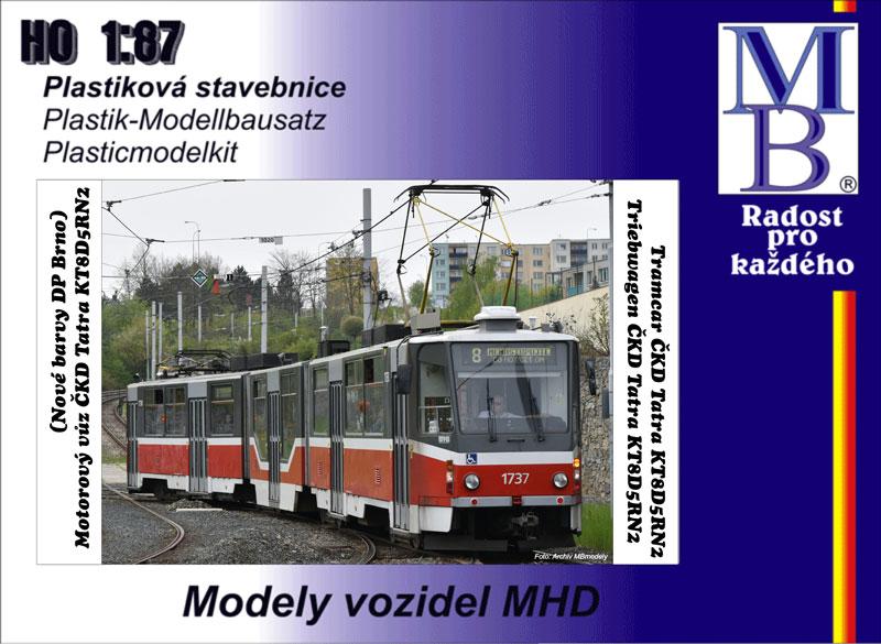 Stavebnice tramvaje ČKD Tatra KT8D5R.N2