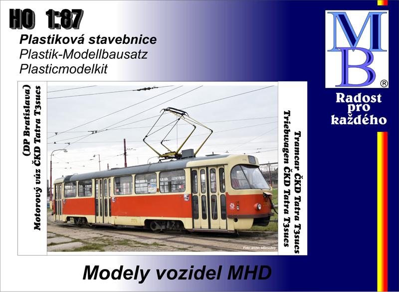 Stavebnice tram ČKD Tatra T3sucs