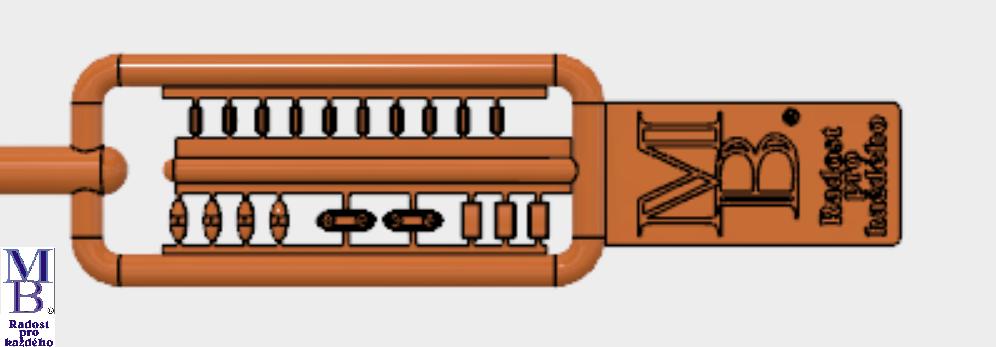 Výlisek oranžová světla pro tramvaje ČKD Tatra T3