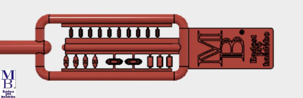 Výlisek červená světla pro tramvaje ČKD Tatra T3