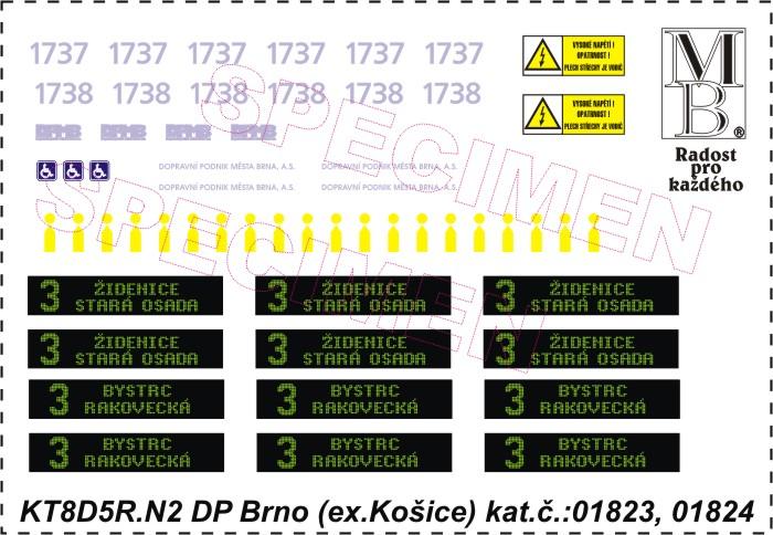 Obtiskový aršík KT8D5R.N2