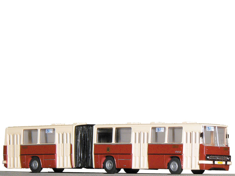 Kloubový autobus IKARUS 280, vínový,
