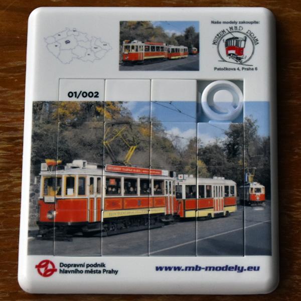 Skládačka s motivem tramvaje