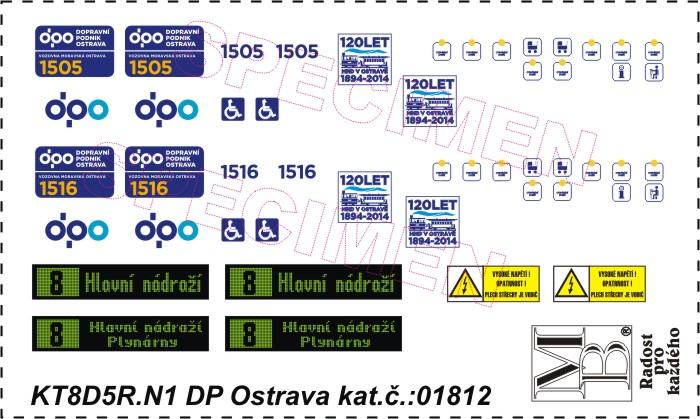 Obtiskový aršík KT8D5R.N1