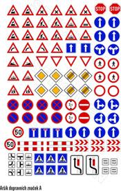 Set traffic symbols (Czech republic)