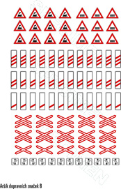 Set traffic symbols (Czech republic)
