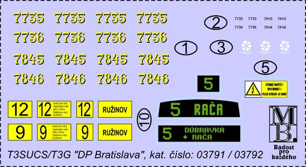 Decal Tatra T3SUCS
