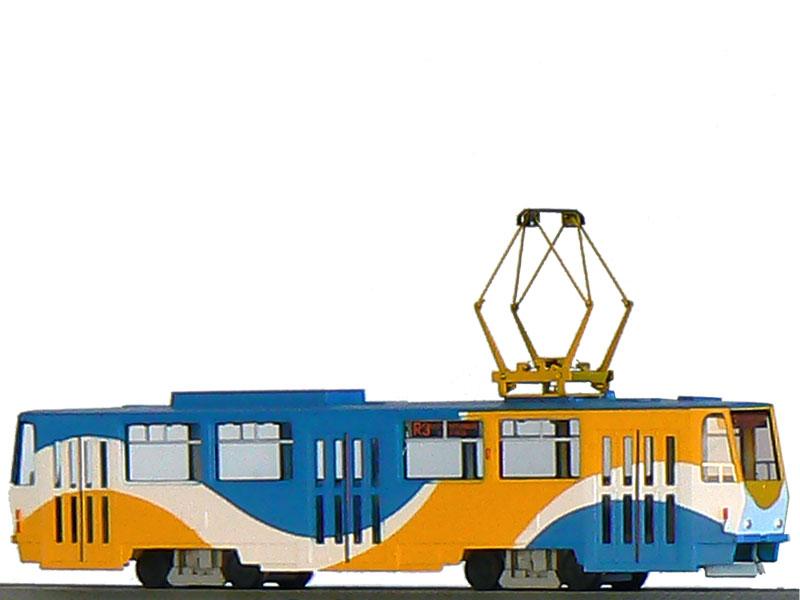 Tramway ČKD Tatra T6A5 with engine