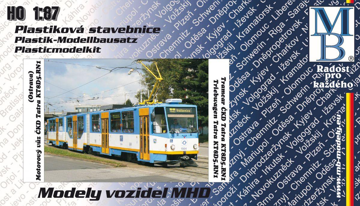 Stavebnice tramvaje ČKD Tatra KT8D5.RN1