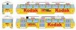 "Tramway model ČKD Tatra T3SUCS with advertising ""Kodak"" (7231), Ep.VI"